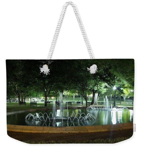 Fountain At Night Weekender Tote Bag