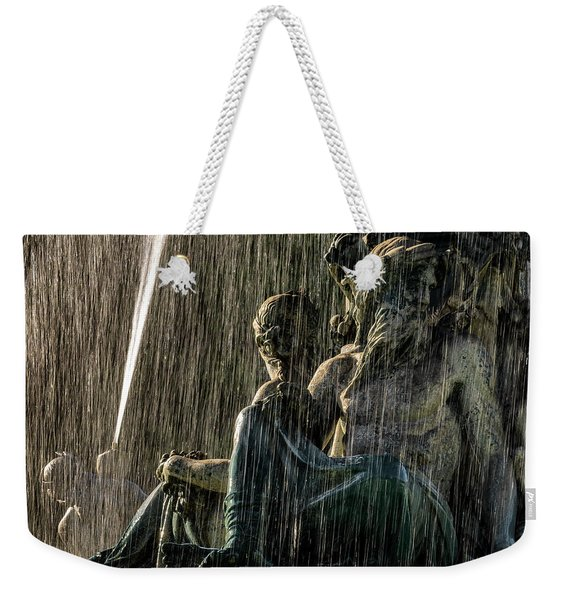 Fountain At Rossio Square Weekender Tote Bag