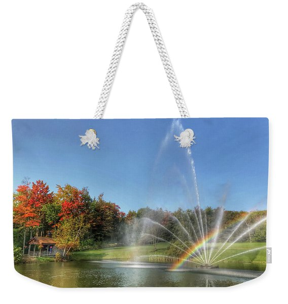 Fountain At Tater Hill Weekender Tote Bag