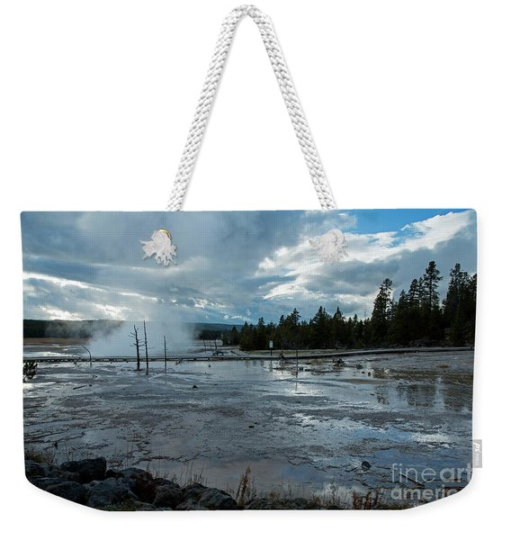 Fountain Paint Pot Area Weekender Tote Bag