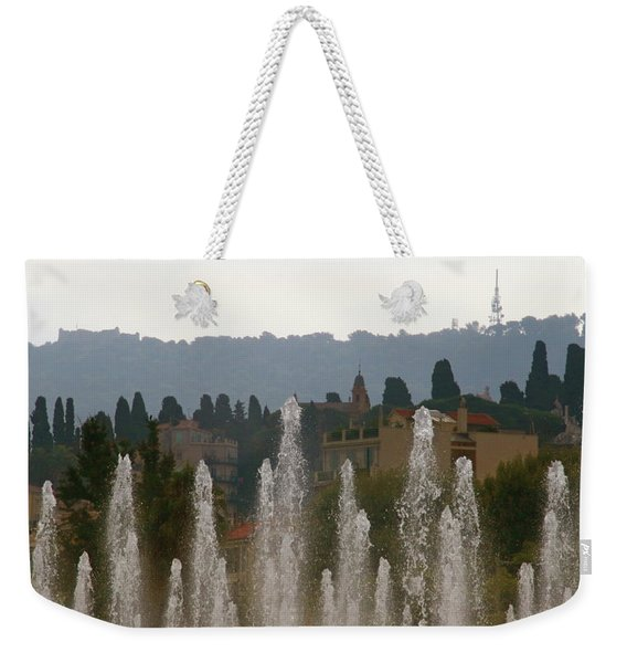 Fountains At Dawn Weekender Tote Bag