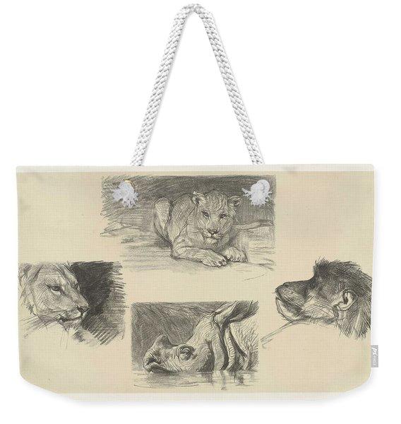 Four Animals, August Allebe, 1848 - 1927 Weekender Tote Bag