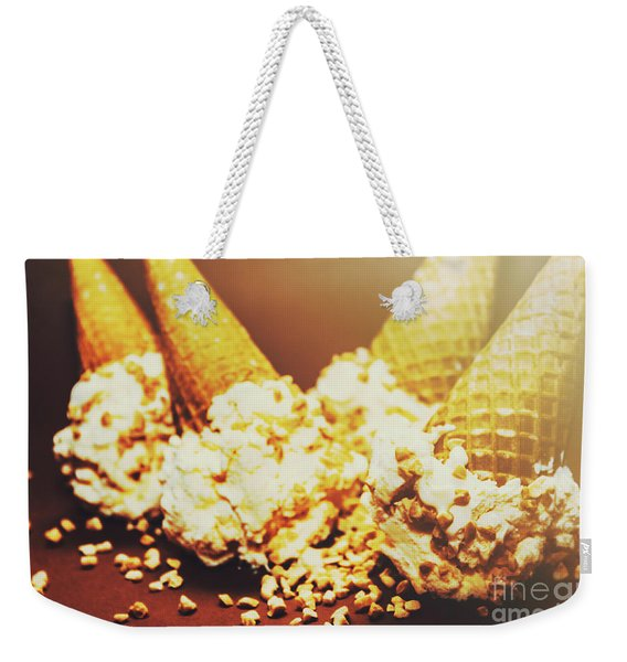 Four Artistic Ice-cream Cones Weekender Tote Bag