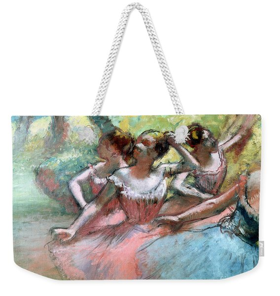 Four Ballerinas On The Stage Weekender Tote Bag