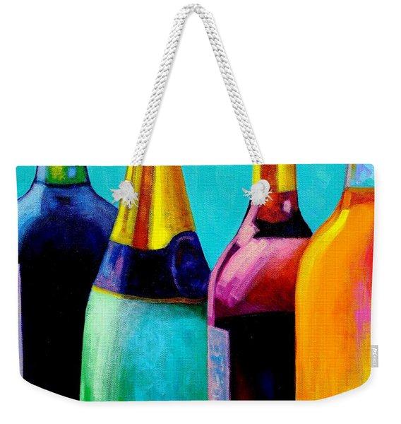 Four Bottles Weekender Tote Bag