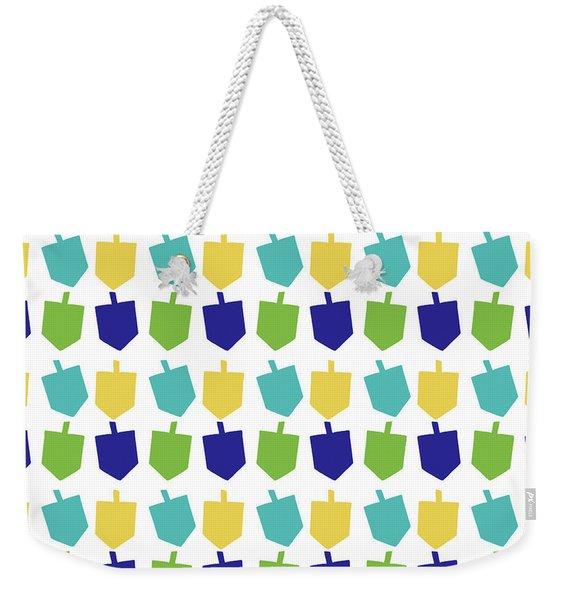 Four Dreidels Pattern- Art By Linda Woods Weekender Tote Bag