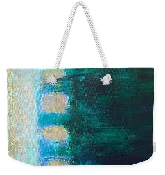 Weekender Tote Bag featuring the painting Four by Kim Nelson