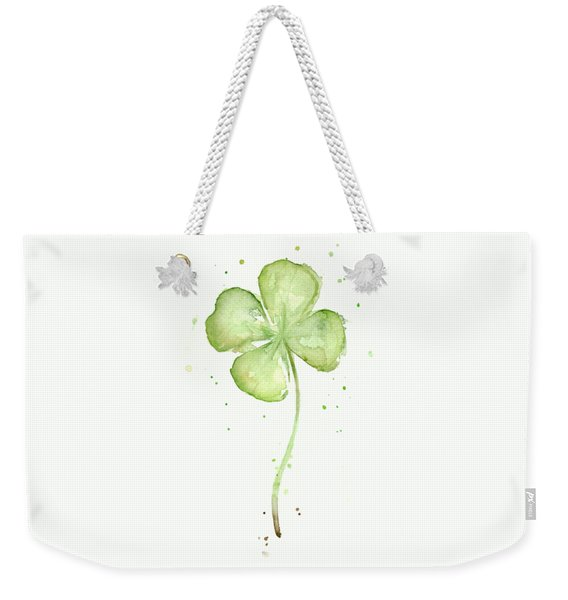 Four Leaf Clover Lucky Charm Weekender Tote Bag
