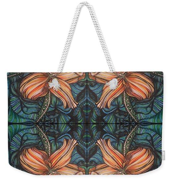 Four Lilies Looking In Weekender Tote Bag
