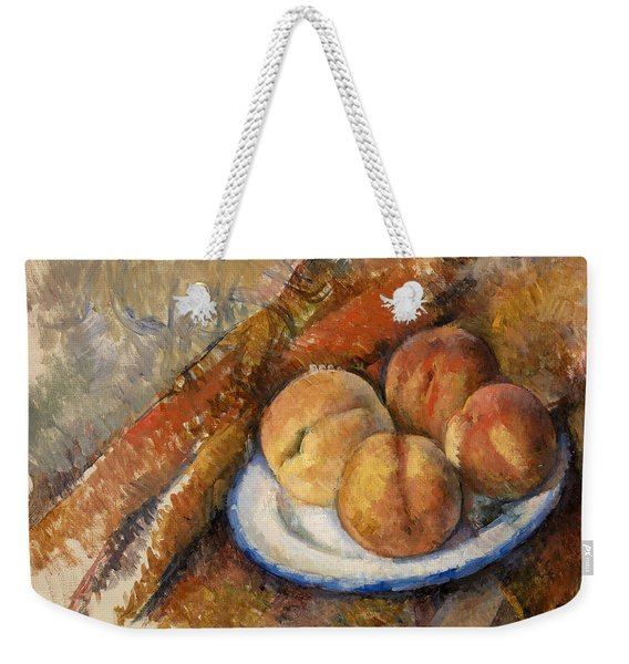 Four Peaches On A Plate Weekender Tote Bag
