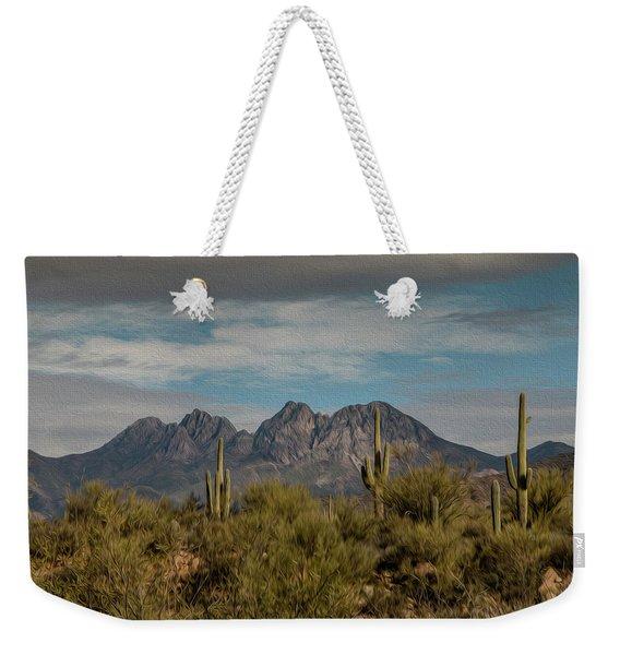 Four Peaks Painterly Weekender Tote Bag