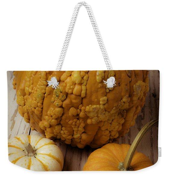 Four Pumpkins Weekender Tote Bag