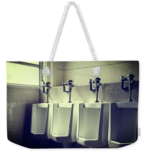 Four Urinals In A Row Weekender Tote Bag