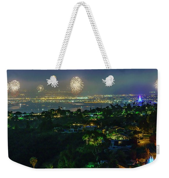 Fourth Of July Celebration In San Diego Weekender Tote Bag