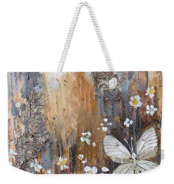 Fox And Butterfly Weekender Tote Bag