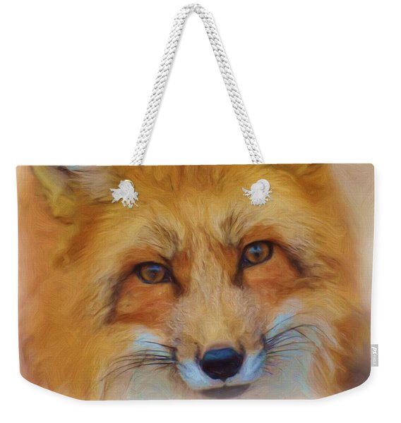 Fox Face Taken From Watercolour Painting Weekender Tote Bag