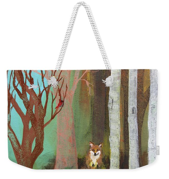 Fox In The Forest  Weekender Tote Bag