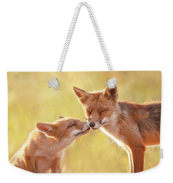 Fox Love Series - World Friendship Day Weekender Tote Bag