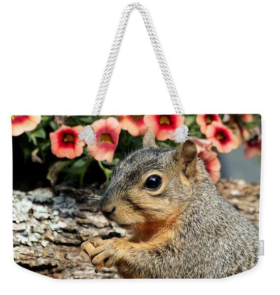 Fox Squirrel Portrait Weekender Tote Bag