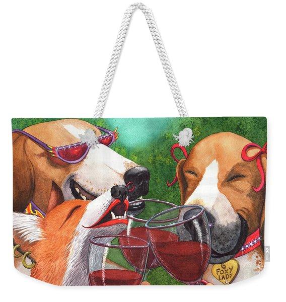 Foxy Winers Weekender Tote Bag