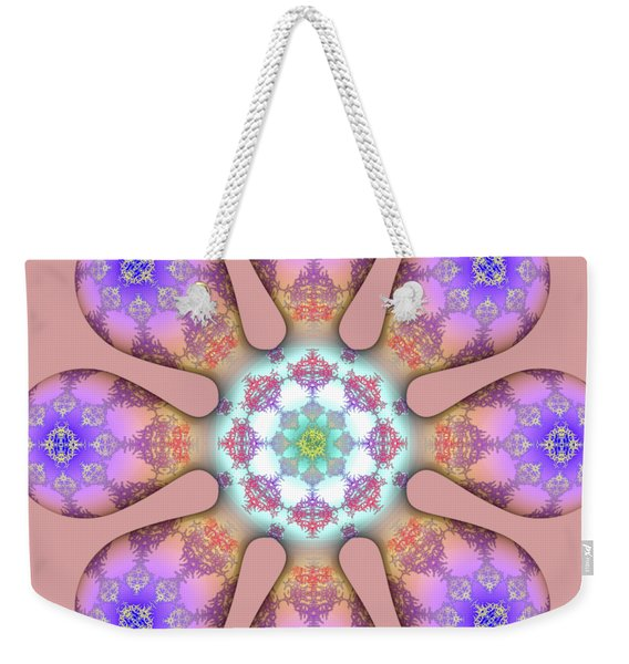 Fractal Blossom 2 Weekender Tote Bag