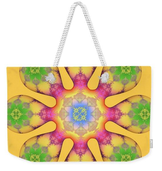 Fractal Blossom 3 Weekender Tote Bag