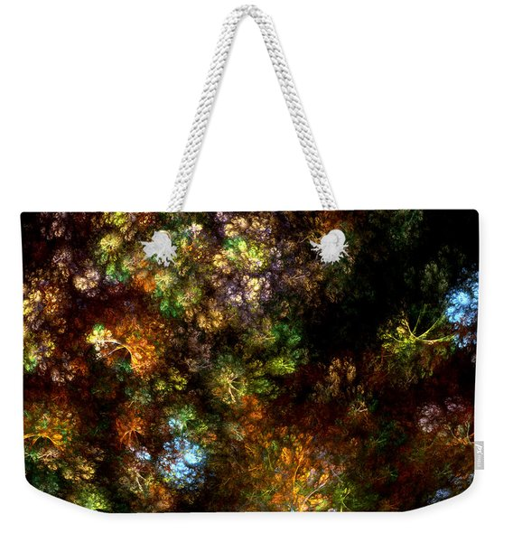Fractal Flowers Weekender Tote Bag