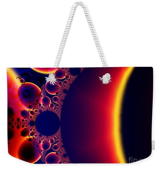 Fractal Galaxy Sunset  Weekender Tote Bag
