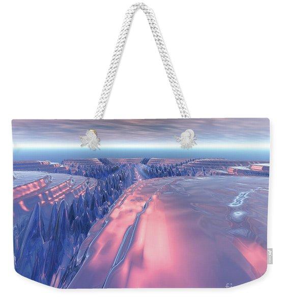 Fractal Glacier Landscape Weekender Tote Bag