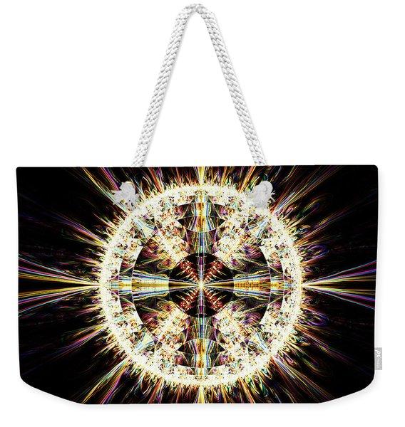 Fractal Jewel Weekender Tote Bag