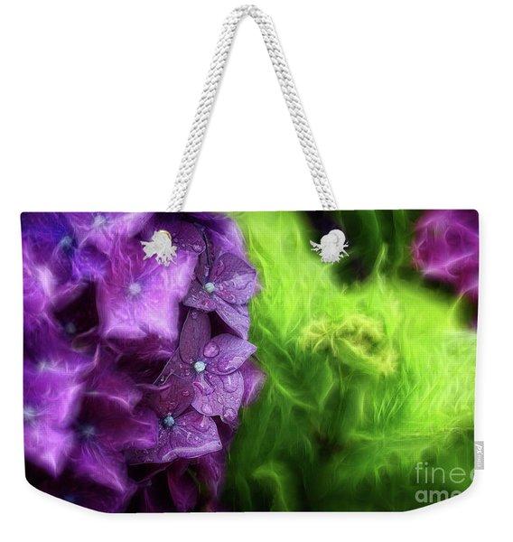 Fractals And Flowers Weekender Tote Bag