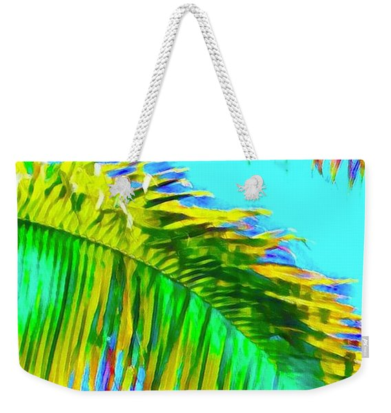 Fragment Of Coconut Palm Psychedelic Weekender Tote Bag