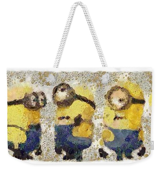 Fragmented And Still In Awe Congratulations Minions Weekender Tote Bag