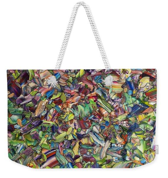 Fragmented Spring Weekender Tote Bag