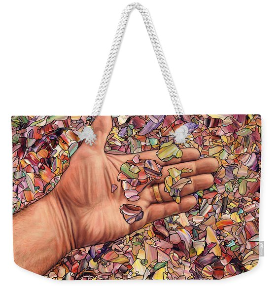 Fragmented Touch Weekender Tote Bag