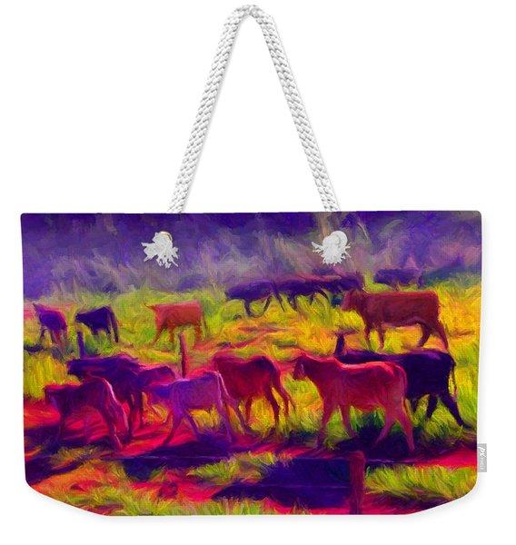 Franca Cattle 1 Weekender Tote Bag