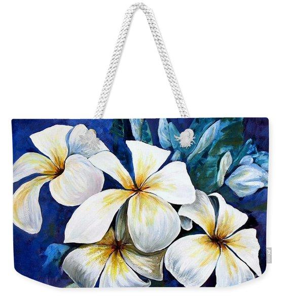 Frangipani Weekender Tote Bag
