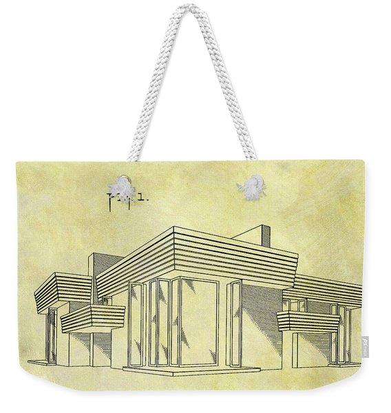 Frank Lloyd Wright House Patent Weekender Tote Bag