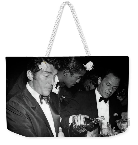 Frank Sinatra Drank American Whiskey His Way Weekender Tote Bag