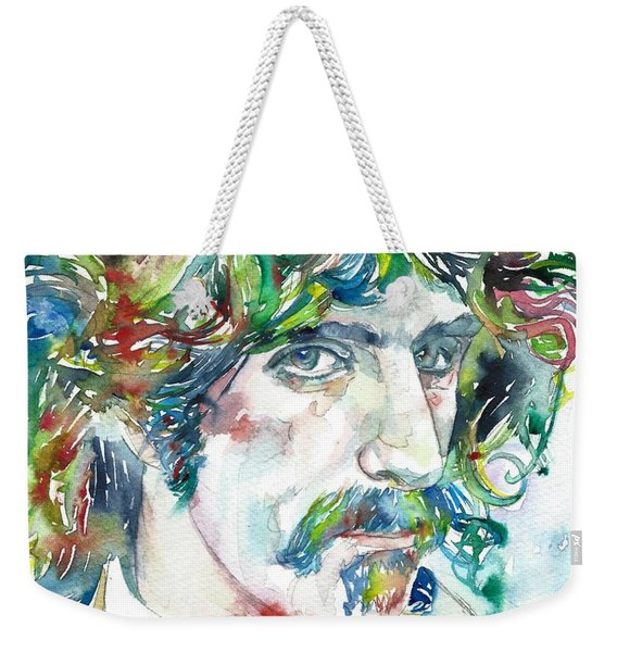 Frank Zappa Portrait Weekender Tote Bag