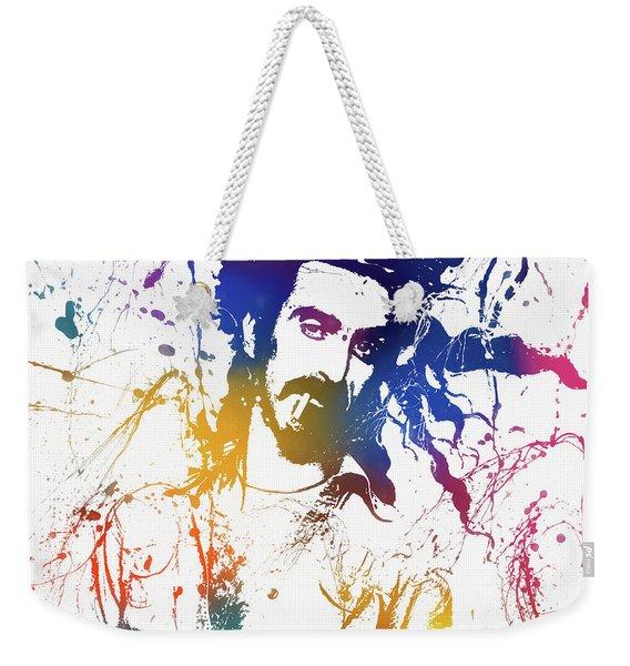 Frank Zappa Splatter Weekender Tote Bag