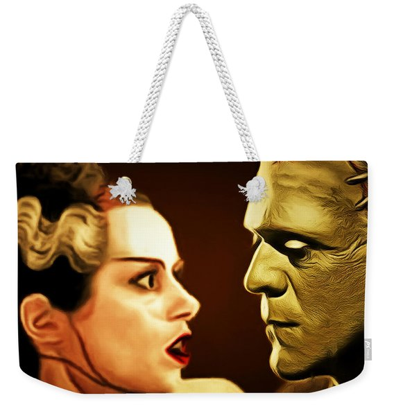 Frankenstein And The Bride I Have Love In Me The Likes Of Which You Can Scarcely Imagine 20170407 Sq Weekender Tote Bag