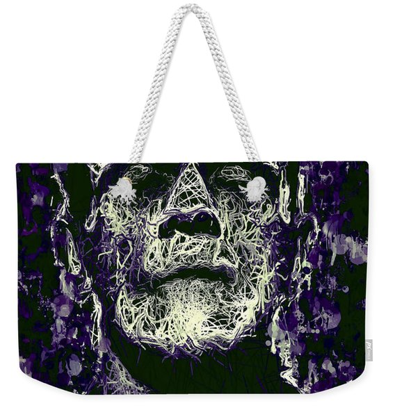 Weekender Tote Bag featuring the mixed media Frankenstein by Al Matra