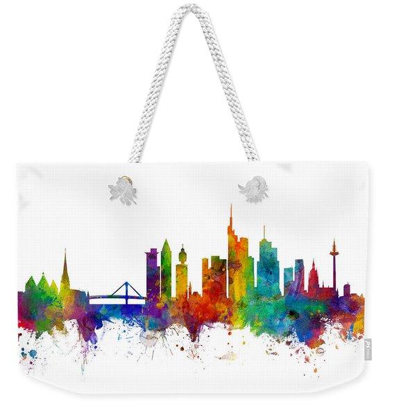 Frankfurt Germany Skyline Weekender Tote Bag