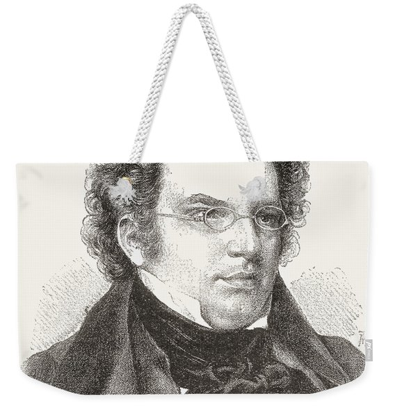 Franz Peter Schubert, 1797 Weekender Tote Bag