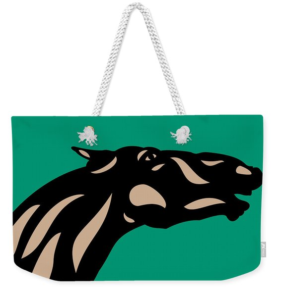 Fred - Pop Art Horse - Black, Hazelnut, Emerald Weekender Tote Bag