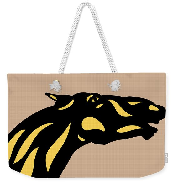 Fred - Pop Art Horse - Black, Primrose Yellow, Hazelnut Weekender Tote Bag