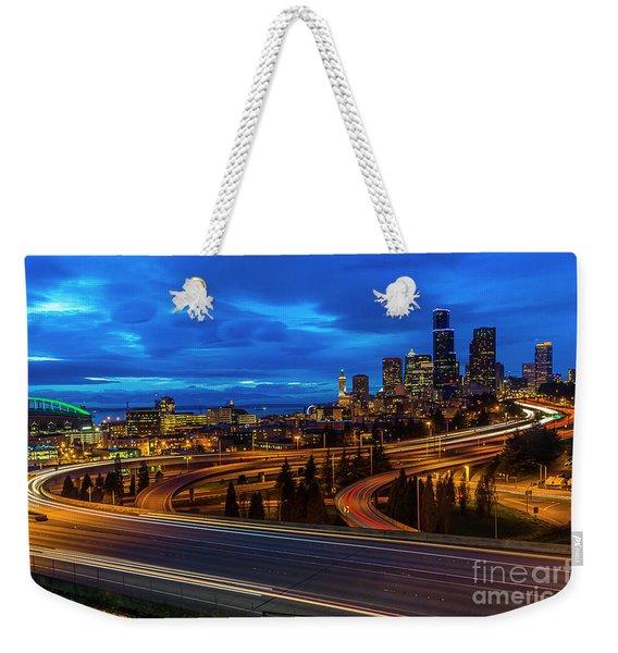 Freeway 5 North To Seattle Weekender Tote Bag