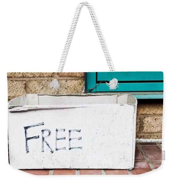Free Box Weekender Tote Bag