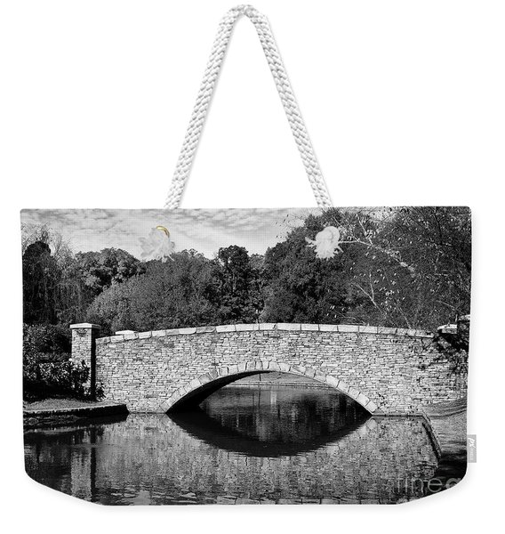 Freedom Park Bridge In Black And White Weekender Tote Bag